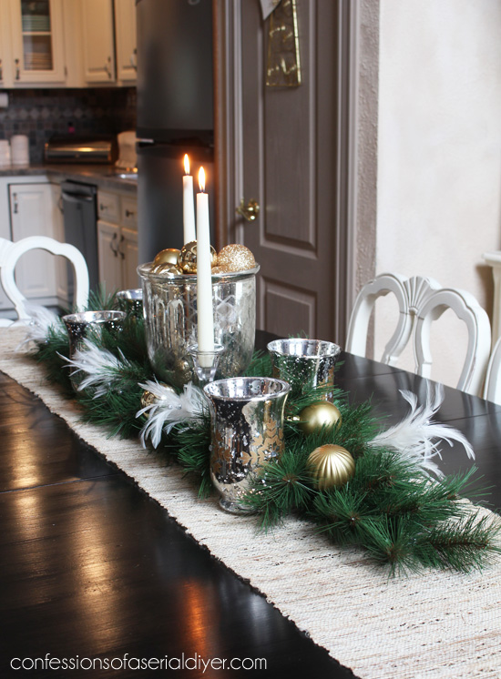 Admirable Holiday Dining Table Centerpiece Confessions Of A Serial Home Interior And Landscaping Ologienasavecom