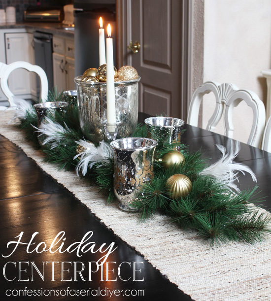 christmas dining table centerpiece