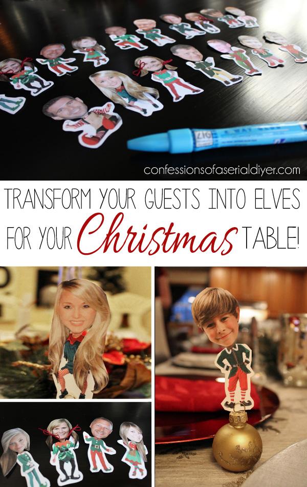 Fun Christmas Place Card Holder Idea!