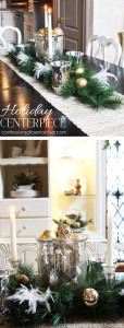 SImple Holiday Dining Centerpiece from Confessions of a Serial Do-it-Yourselfer