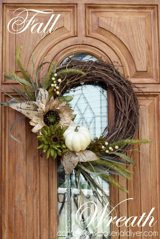 Fall Wreath, taking a break from the traditional.