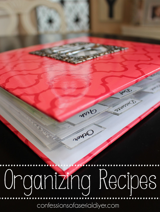Perfect solution for orgainzing recipes!