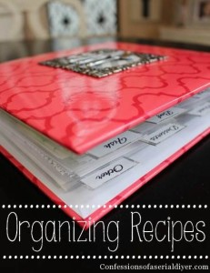 Organize recipes with this super simple method!