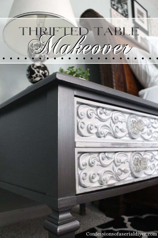 Glam Side Table Makeover