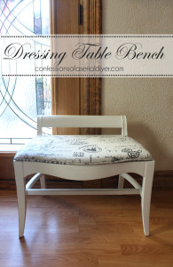 Dressing Table Bench Makeover