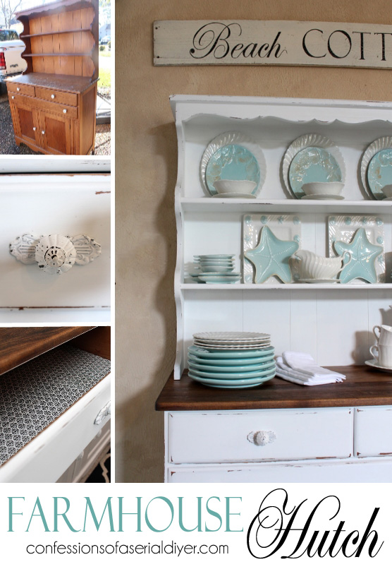 Farmhouse Hutch Makeover / Confessions of a Serial Do-it-Yourselfer