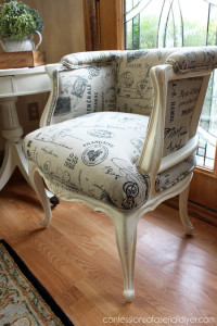 How I Upholstered my French Provincial Chairs