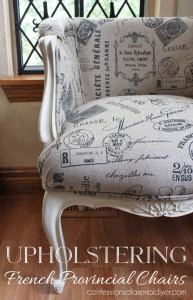Upholstering a French Provincial Chair