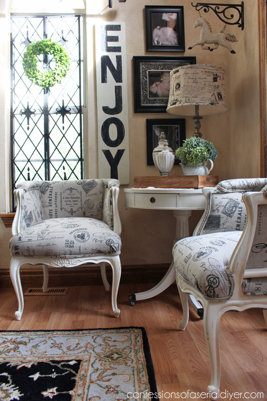 French Provincial Chair Makeover
