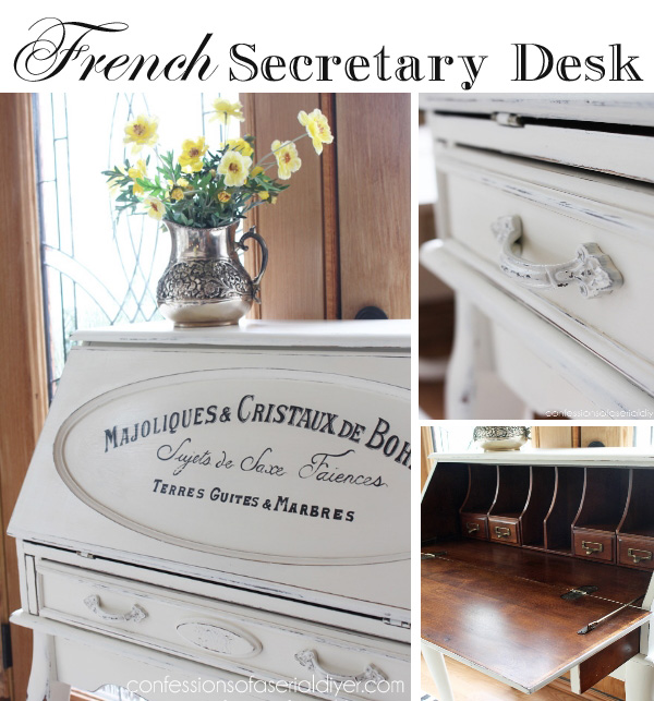 Secretary Desk with French Graphics