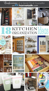 DIY Spice Cabinet and 17 More Kitchen Organization Ideas {with Hometalk}