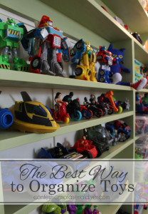 The Best Way to Organize Toys (at least a really awesome way)