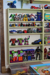 Organize Toys with Shallow Display Shelves