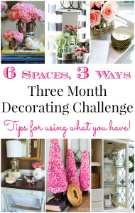 How to Shop Your Home {A Three Month Decorating Challenge}