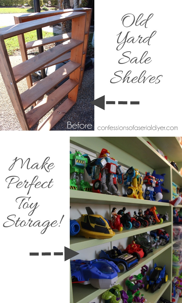 Shallow Shelves Make Perfect Toy Storage!