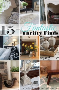 15+ Fantastic thrifty finds that I found to decorate my home. All of these items were used as is!