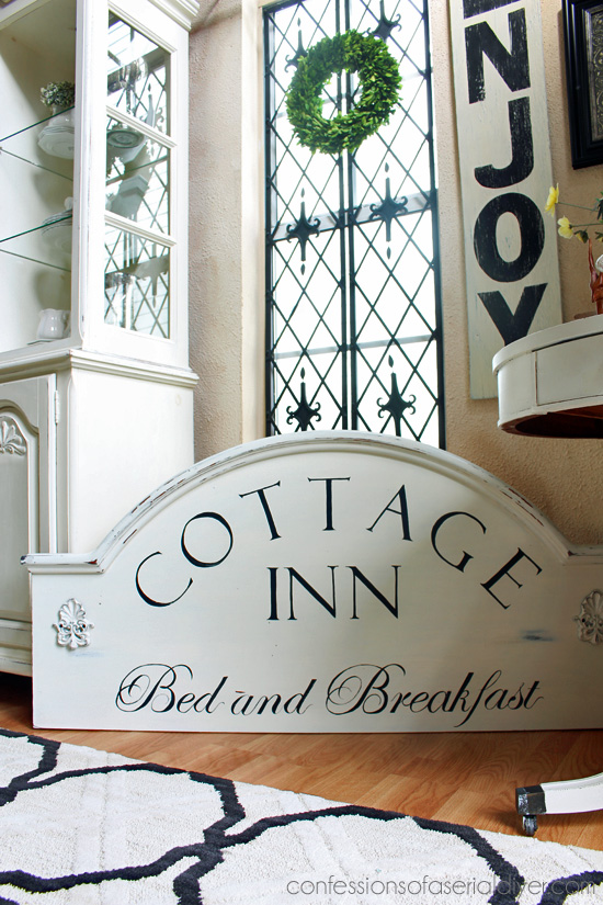 Headboard Store Headboard Turned Cottage Inn Bed And Breakfast Sign  Confessions