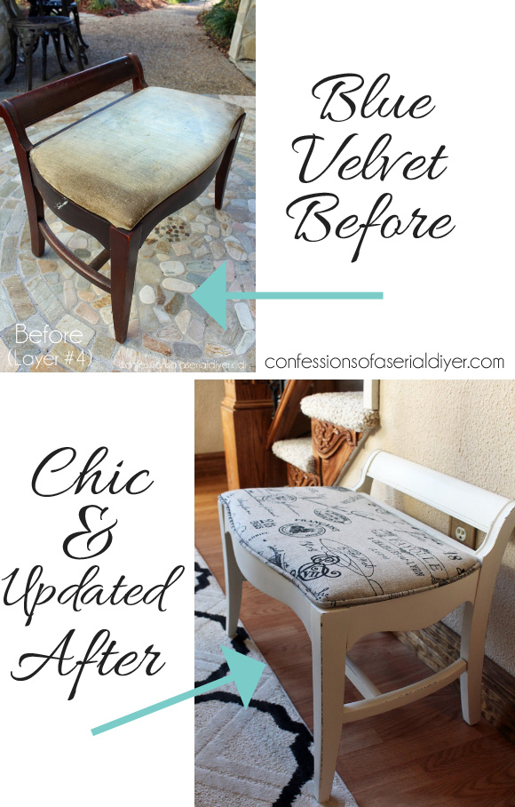 Dressing Table Bench/ Confessions of a Serial Do-it-Yourselfer