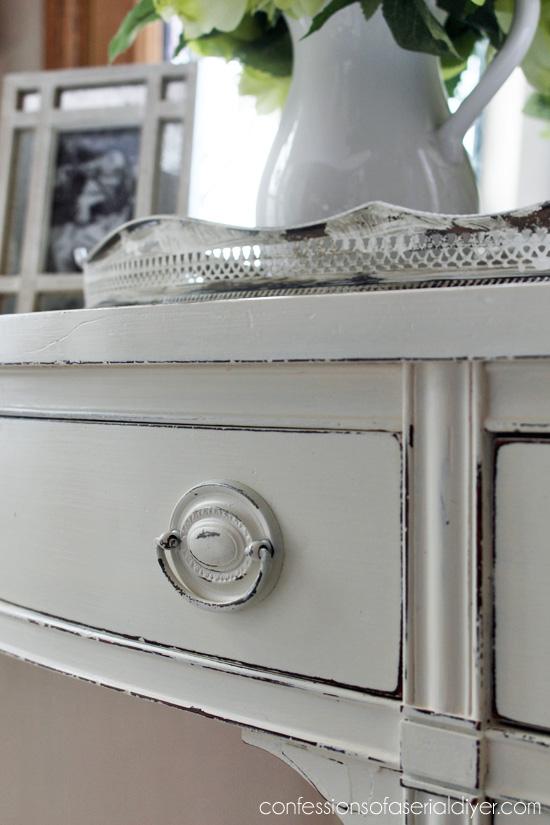 Updated hardware using Rustoleum's Heirloom White