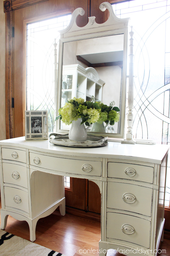Chalk Paint Makeup Vanity