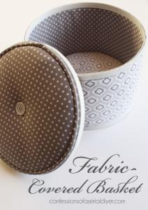 Flea Market Swap: Fabric Covered Basket