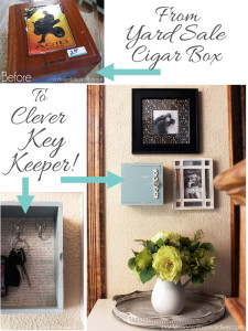 Turn a cigar box into the perfect place to hang your keys!