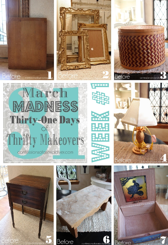 March Madness Week #1 of 31 Days of Thrifty Makeovers!