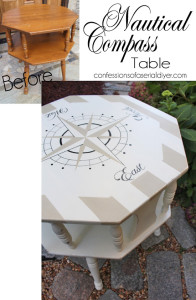 Nautical Compass Table/Confessions of a Serial Do-it-Yourselfer