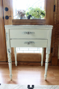 Sewing Cabinet Side Table