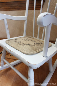 Add a padded seat to a child's chair!