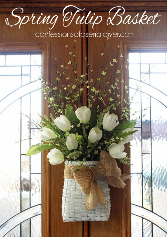 Spring Tulip Basket