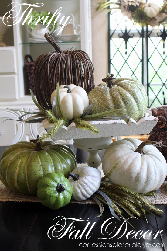 Beautiful Fall vignette made from thrift store rejects!