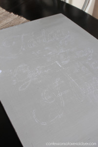 Transferring an image using chalk.