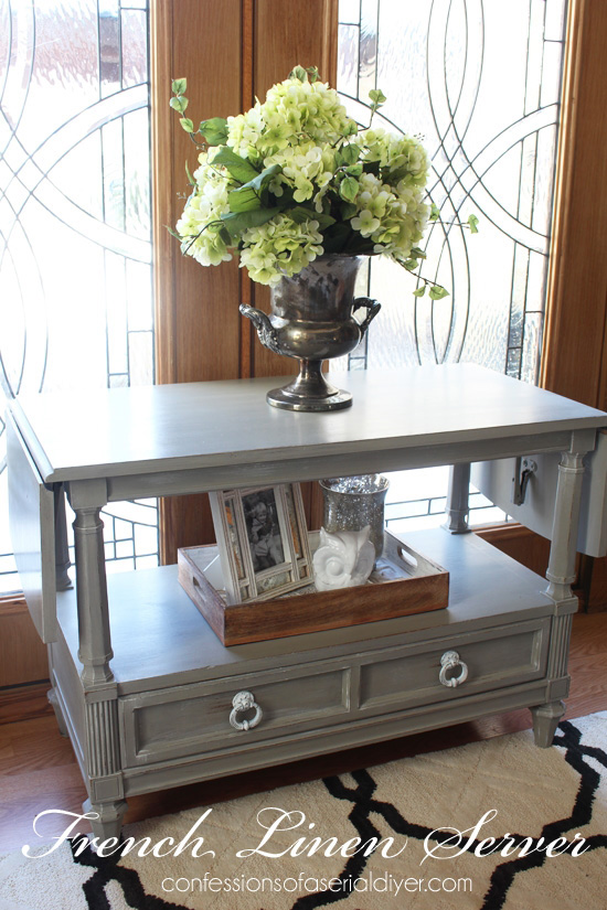 Server/TV Stand in French Linen