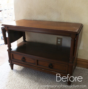 French Linen Server (TV Stand)