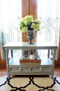 Vintage server painted in Annie Sloan's French Linen from confessionsofaserialdiyer.com