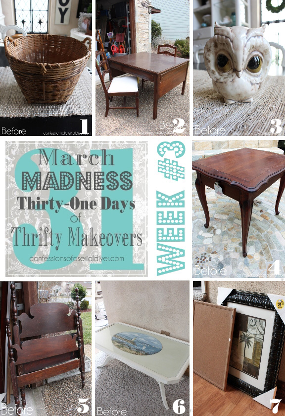 March Madness Week #3 of 31 Days of Thrifty Makeovers!