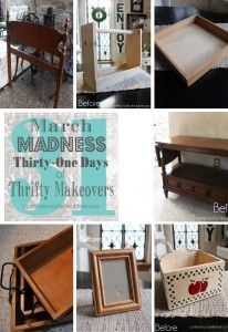 March Madness Week #2 of 31 Days of Thrifty Makeovers!