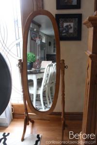 Rosette Framed Mirror Before