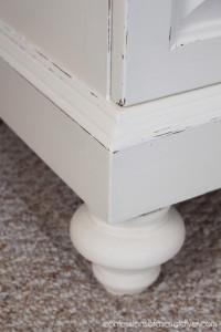Update an older dresser by adding new feet!