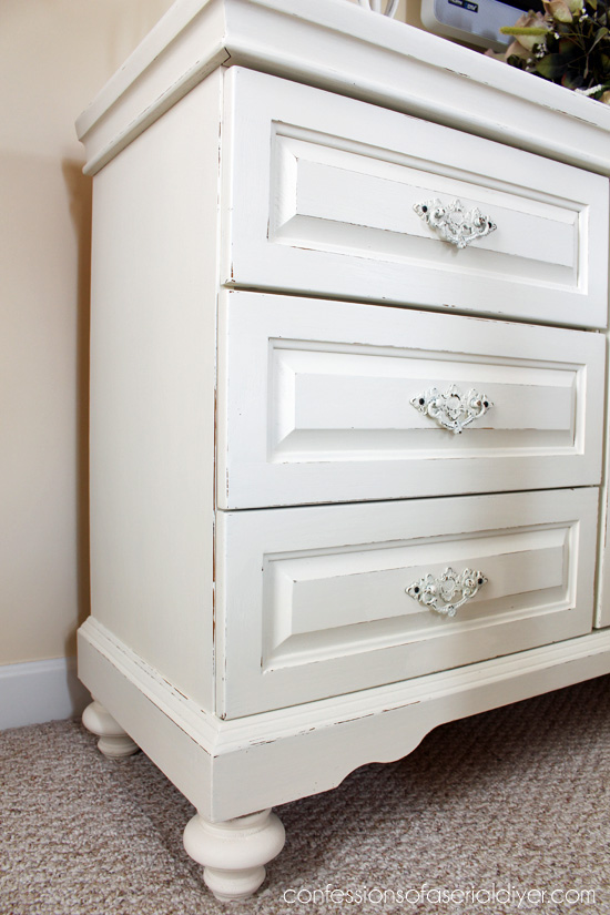 This was a dated oak dresser that was brought  to life with DIY chalk paint!