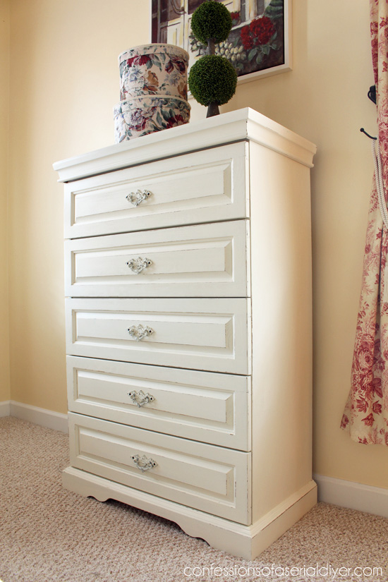 Dresser makeover in DIY chalk paint.