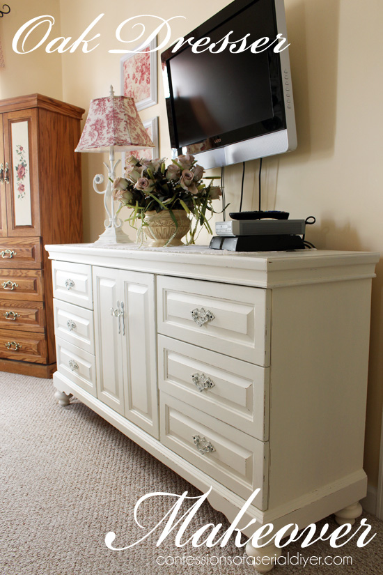 Elegant This was a dated oak dresser that was brought to life with DIY chalk paint