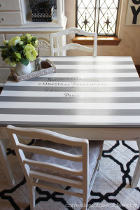 Table and Chairs with French Flair