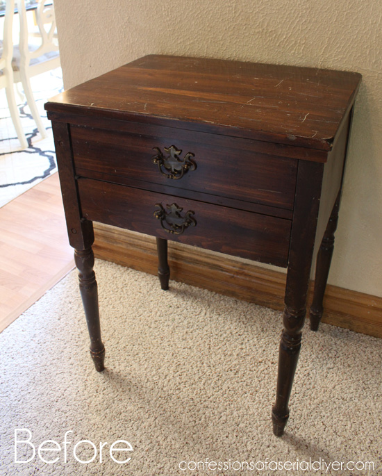 Sewing-Cabinet-turned-Side-Table