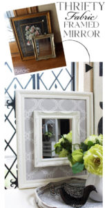 Thrifty Fabric Framed Mirror from confessionsofaserialdiyer.com