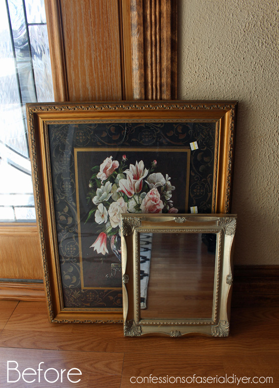 Frame and Mirror Upcycle