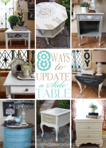 8 Ways to add a little something extra to a simple painted side table