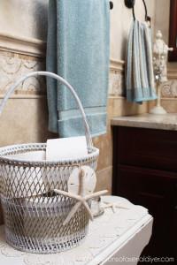 Striped basket makeover