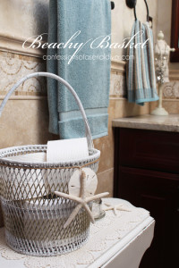 Beachy Basket Makeover